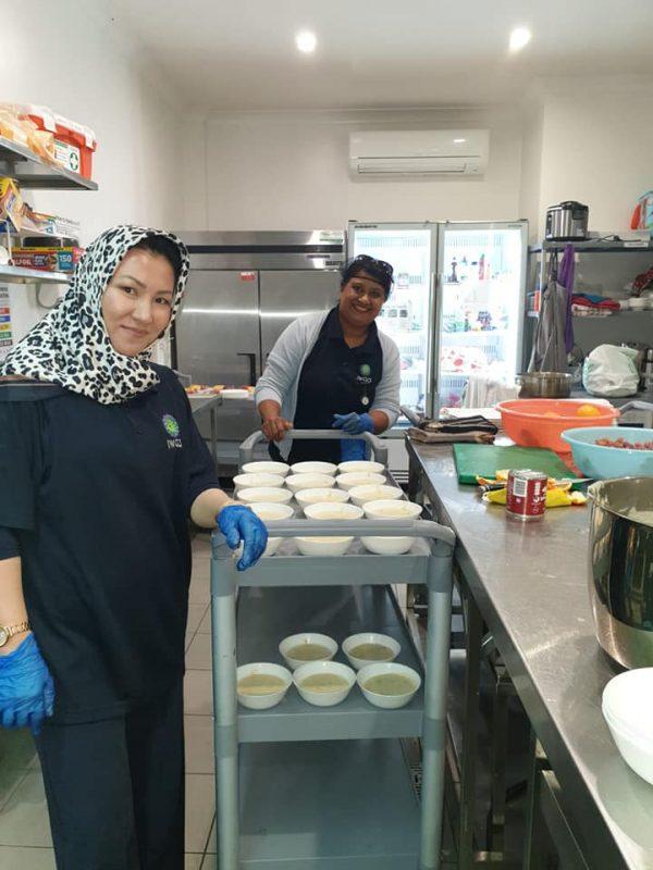 Nadia N & Amina Clay - Kitchen help